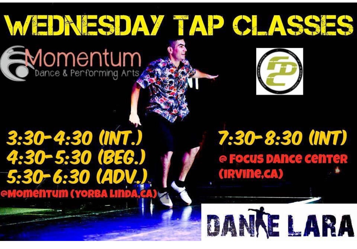 Wednesday Tap Classes with Dante